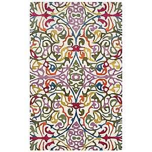Multicolor Floral Vine Area Rug, 5x8