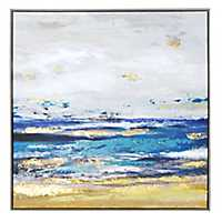 Painted Shore Framed Canvas Art Print