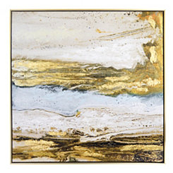 Melted Sand Framed Canvas Art Print