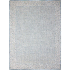 Aqua Clyde Geometric Border Area Rug, 5x8