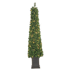 Pre-Lit Potted Tree Tower