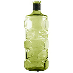 Green Bottle Glass Vase, 16 in.