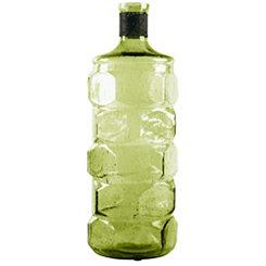 Green Bottle Glass Vase, 16 in.