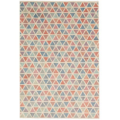 Multicolor Pastel Diamond Area Rug, 5x8
