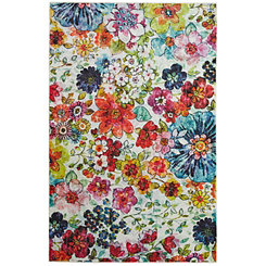 Colorful Blossoms Area Rug, 8x10