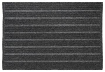 Gray Ribbed Polyester Doormat