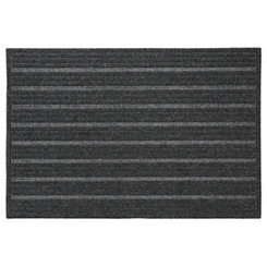 Gray Ribbed Polyester Doormat