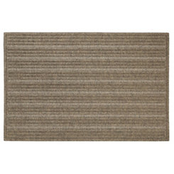 Brown Ribbed Polyester Doormat