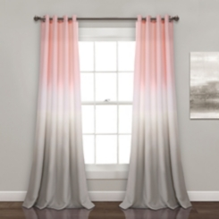 Ombre Blush and Gray Curtain Panel Set, 84 in.
