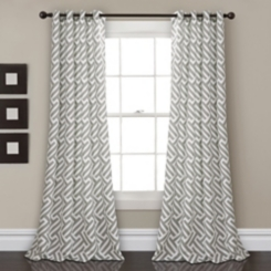 Gwyneth Gray Curtain Panel Set, 84 in.