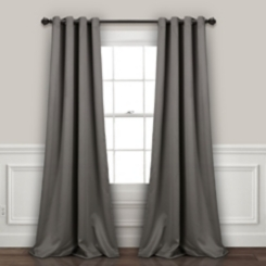 Blackout Dark Gray Curtain Panel Set, 84 in.