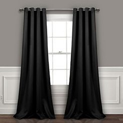 Blackout Black Curtain Panel Set, 84 in.