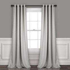 Blackout Light Gray Curtain Panel Set, 95 in.