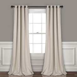 Blackout Wheat Curtain Panel Set, 95 in.