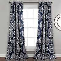 Kara Medallion Curtain Panel Set, 84 in.