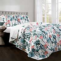 Zoe Flora 3-pc. Full/Queen Quilt Set