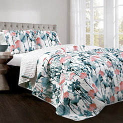 Zoe Flora 3-pc. King Quilt Set