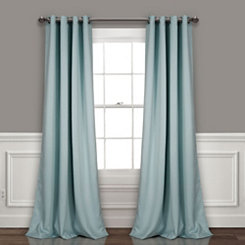 Blue Insulated Blackout Curtain Panel Set, 84 in.