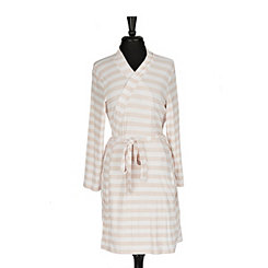 Pink Stripe Pocket Robe, L/XL