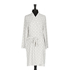Gray Diamond Pocket Robe, L/XL