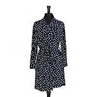 Navy Dot Pocket Robe, L/XL