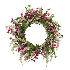 Pink Dusty Miller Mixed Wreath