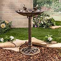 Bronze Seashell Bird Bath