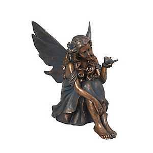 Bronze Fairy Figurine, 25 in.
