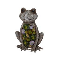 Succulent Frog Figurine