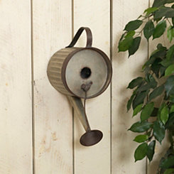 Hanging Metal Watering Can Birdhouse