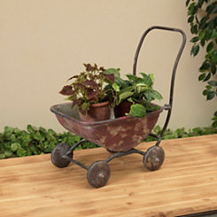 Antique Red Wagon Planter