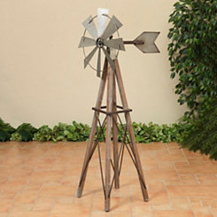 Metal and Wood Windmill