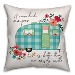 Floral Camper Double-Sided Pillow