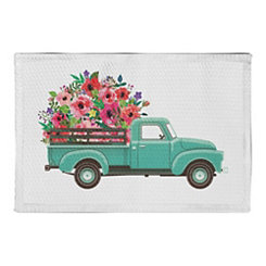 Floral Truck Non-Skid Accent Rug