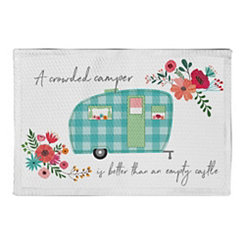Floral Camper Non-Skid Accent Rug