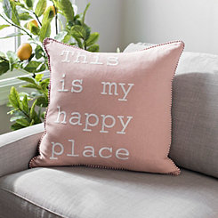 Blush This Is My Happy Place Pillow