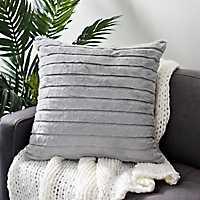 Gray Fur Horizontal Cut Pillow