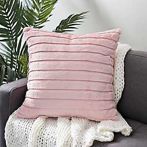 Pink Fur Horizontal Cut Pillow