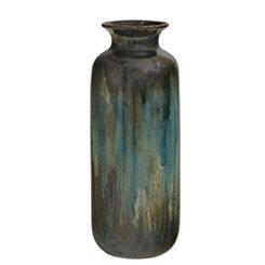 Reactive Teal Vase