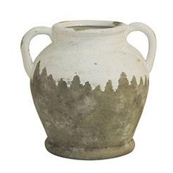 White Vintage Vase with Handles