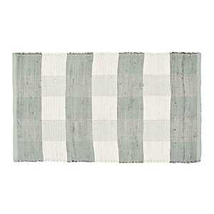 Gray and White Buffalo Check Accent Rug, 2x4