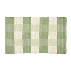 Olive and White Buffalo Check Accent Rug, 2x4