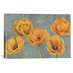 Sunset Floral Canvas Art Print
