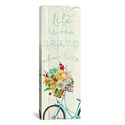 Grand Adventure Floral Bicycle Canvas Art Print