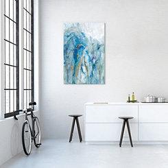 Abstract Lapis Canvas Art Print