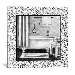 Black and White Bath I Canvas Art Print