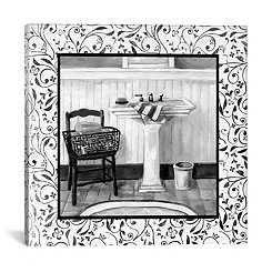 Black and White Bath II Canvas Art Print