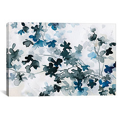 Blue Cherry Blossoms Canvas Art Print