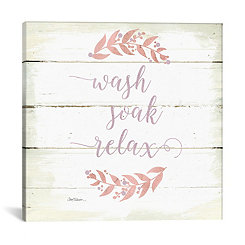 Wash Soak Relax Canvas Art Print