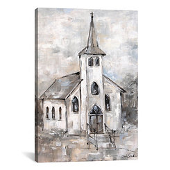 Gray Steeple Canvas Art Print